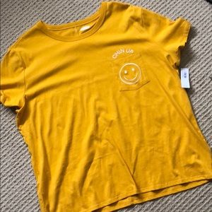 Old Navy Chin Up embroidered picket tee